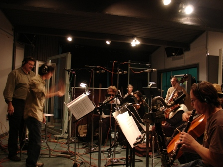 film score live recording at Private Island Studio in Hollywood